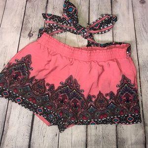 Sweet Wanderer Shorts - Sweet Wanderer Boho Print Shorts